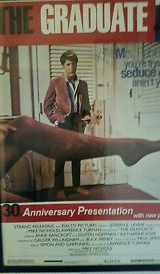 Rare The Graduate signed poster