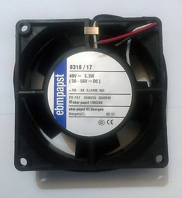 Ebmpapst 8318/17 80MM 48v DC Fan with Alarm Sensor 80x80x32 mm  36-56v DC 48VDC