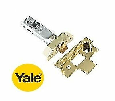 """YALE 3 INCH - 3"""" (76mm) REBATED TUBULAR MORTICE LATCH IN BRASS FINISH - NEW"""