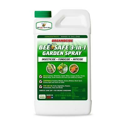 Organocide 3-in1 Garden Spray Quart Concentrate 32oz Insecticide Organic Labs