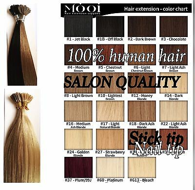 """Remy Pre bonded Stick tip human hair extensions 1g, 18""""-22"""""""