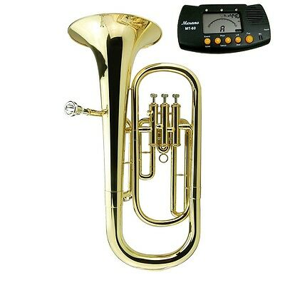 MERANO E Flat Gold Alto Horn with Case + Free Metro Tuner USA SELLER