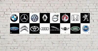 CAR LOGOS PVC BANNER 3 -  workshop, garage, office or showroom