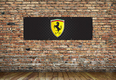 Ferrari logo workshop, garage, office or bedroom pvc banner