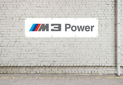 M3 POWER banner sign for workshop, garage, office or showroom pvc banner