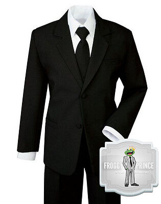 Kids Children's Boys Dress Clothes Suit in Black and White Size Small - 20