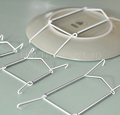 Pack Of 2 Plate Hanging Holders Wire Plate Hangers Wall Display Art Decorations
