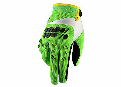 100% Percent Mx Gear 2015 Airmatic Lime Green Motocross Bike MTB BMX Moto Gloves