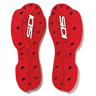 Sidi SRS Boots Crossfire Supermotard Motocross Dirt Bike Replacement Red Soles