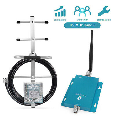 3G 4G 850MHz AT&T Verizon Phone Signal Booster Repeater+Right Angle Yagi Antenna