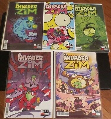 Invader Zim 6 7 8 9 10 variant cover comic book set by Jhonen Vasquez