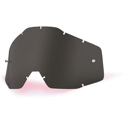 100% Percent Goggles NEW Mx Gear RaceCraft Accuri Strata Lense Dark Smoke Lens