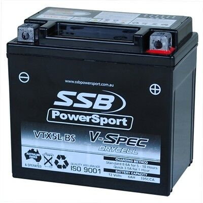 SSB Mx PowerSport V-Spec High Performance Motorbike 12v AGM Motorcycle Battery