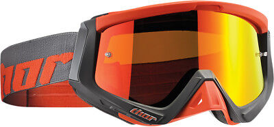 Thor NEW Mx Sniper Warship Charcoal Orange Tinted Motocross Dirt Bike Goggles