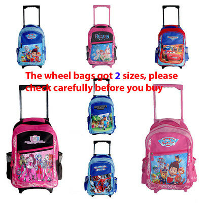 Kids Boys Girls Trolley School Bag Backpack Wheeled Luggage Suitcase Case Gift