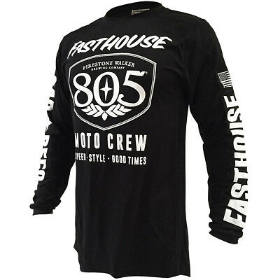 Fasthouse NEW Mx Vintage 805 Shield Air Cooled Vented Black Motocross Jersey