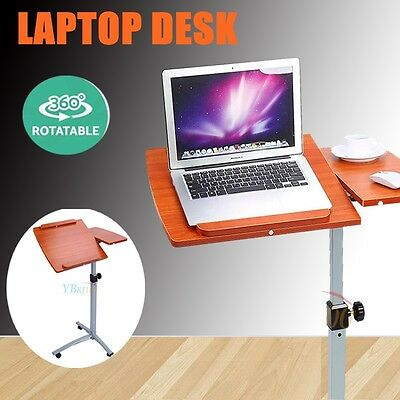 Chic Adjustable Rotating Mobile Laptop Computer iPad Desk Stand Table Bed Tray
