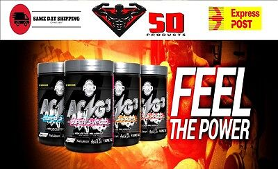 PMD - ACG3 - SUPER-CHARGED - Pre workout  - 60 servings  - C4 - Total War - Bcaa
