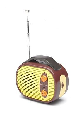 Mini Retro Radio 60s Style FM Fishing Festivals Outdoor