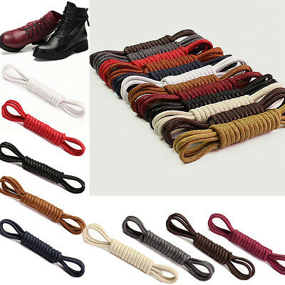 Waxed Cotton Thin Round Shoelaces 2.5Mm Dress Wax Cord Laces Brogues Shoes
