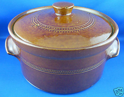 Vintage PEARSONS Chesterfield England STONEWARE POTTERY Oven Casserole Dish GOOD