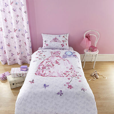 Girls Pink Fairytale Princess Single Fitted Sheet