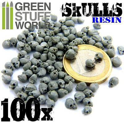 100x Resin Skulls - Sack of Skulls - Basing Scatter Scenery for Miniature Bases