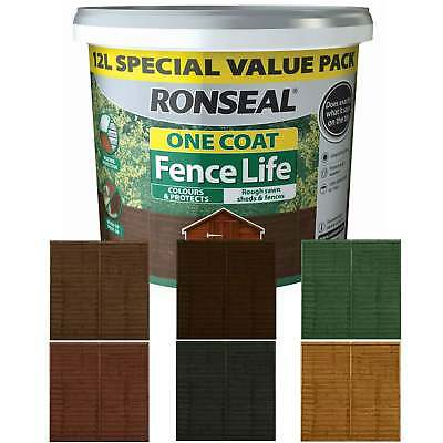 Ronseal One Coat Fencelife Fence Paint 12 Litre - Next Day Delivery