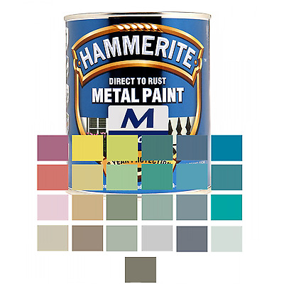 Hammerite Direct To Rust Smooth Mixed Colours 750ml
