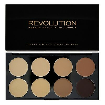 Makeup Revolution, MEDIUM-DARK Cover+Conceal+Contour,Cream Palette-FREE SHIPPING