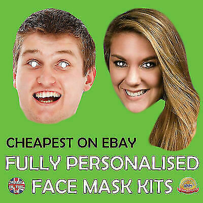 PERSONALISED FACE MASK D.I.Y KIT PHOTO STAG DO HEN NIGHT PARTY Sash MASKS New
