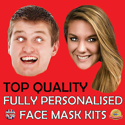 BIG PERSONALISED CUSTOM FACE MASKS STAG DO,HEN NIGHT PARTY,SASH,GIANT New