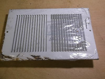 "NEW Auer Side Wall Register Vent Cover White 10"" x 6"" 4299061 432  *FREE SHIP*"