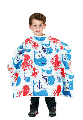 "Betty Dain 400-AA Anchors Away Kids Styling cape,Snap closure 30""x36"""