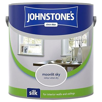 Johnstone's Silk Emulsion Paint For Walls & Ceilings 2.5L Moonlit Sky