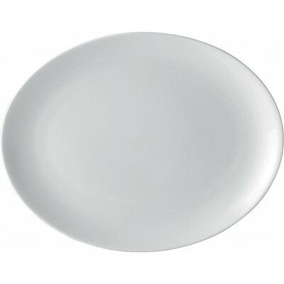 """White Oval Plate - 12"""" - Porcelain Plates - 5 Year Edge Chip Warranty - Box of 6"""