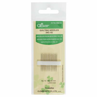 Clover Hand Sewing Needles - Quilting size 10