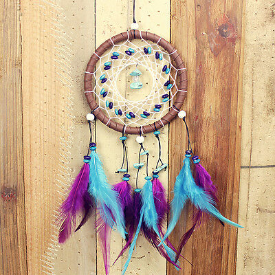 Dream Catcher Violet Feather Native American Indian Style Dreamcatcher Bed Room