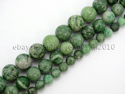 Natural Qinghai Jade Jasper Gemstone Round Beads Strand 15.5'' 6mm 8mm 10mm