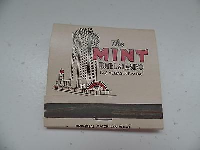 The MINT Hotel&Casino Las Vegas Nevada Matchbook Universal Matches Vtg MCM     C
