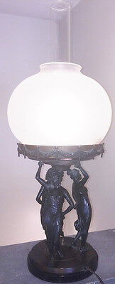 19Th Century Bronze 3 Graces Electrified Lamp- Price Reduction