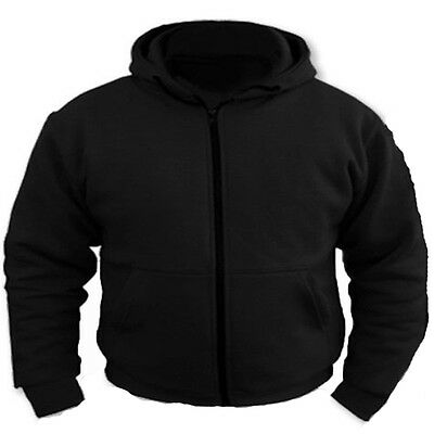 Motorcycle Removable CE Armoured FULL Kevlar 100% Protection Black Hoodie Hoody