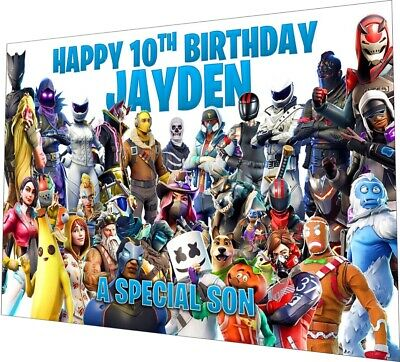Personalised Fortnite Birthday Card Season 6 Any NAME Any AGE Any RELATION 14x21