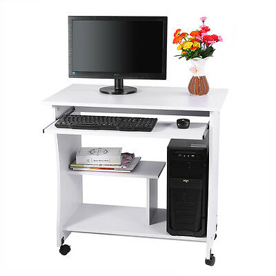 Useful Home Office Corner Computer PC Desk Wood Laptop Table Study Workstation