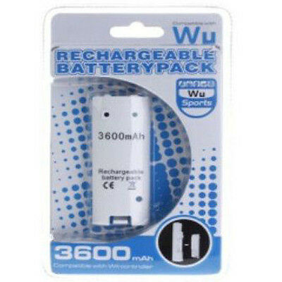 Nintendo Wii Remote Controller 3600mAh Rechargeable Battery Pack With USB Cable