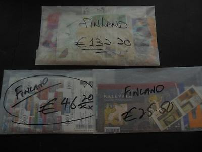 FINLAND : All Very Fine, MNH Euro values, valid for postage. Face Value €203.90.