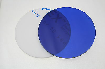 BLUE 7703 TRANSLUCENT DISC ACRYLIC ROUND CIRCLE 3mm thick 100mm - 900mm diameter