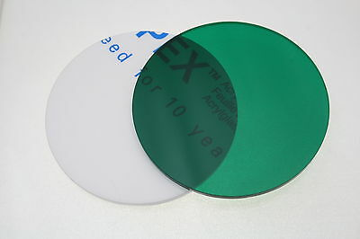 GREEN 6600 TRANSLUCENT DISC ACRYLIC ROUND CIRCLE 3mm thick 100mm-900mm diameter
