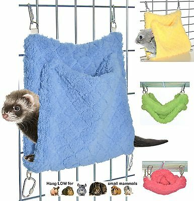 SOFT & SUPER-COZY Ferret or Bunny Pocket Hammock – Made in the USA  …