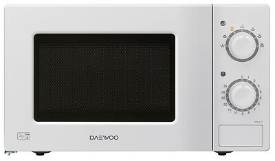 Daewoo KORL677 Manual Microwave Oven - 20L - 700W - White - FREE P&P